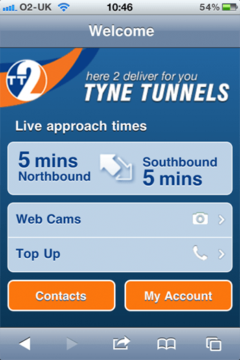 TT2 iPhone Web Application