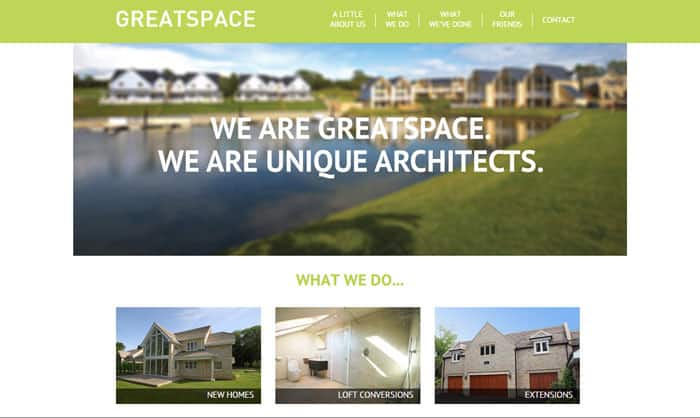 Read about Greatspace architecture website