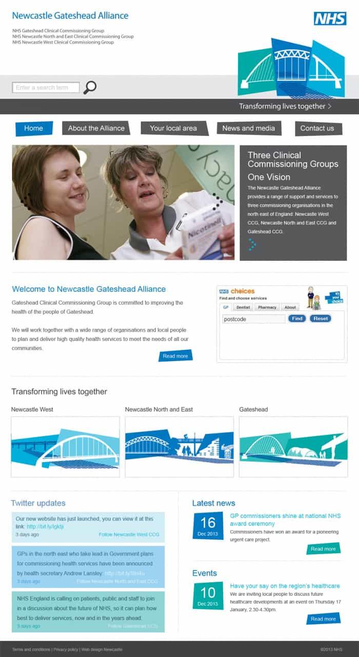 Newcastle Gateshead Alliance home page