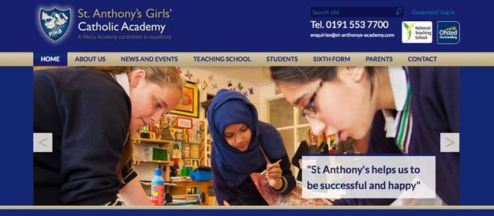 St Anthony's Girls Catholic Academy website