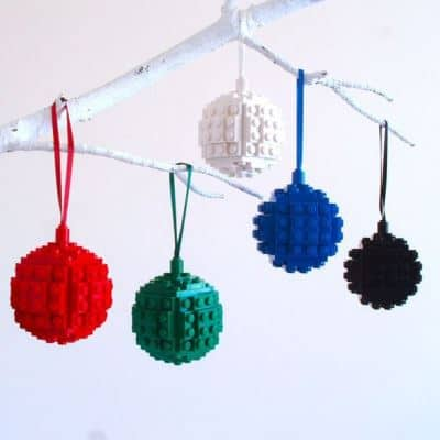 Lego baubles – perfect for a lego geek!