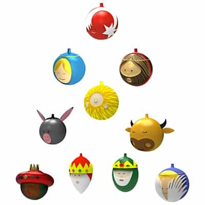 Cute Alessi baubles to please the kids.