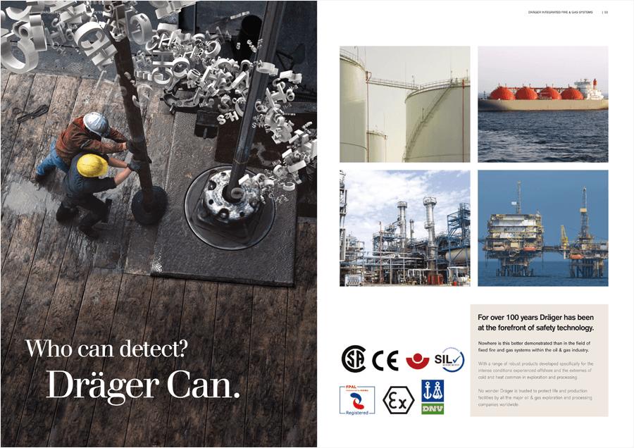 Draeger printed brochure