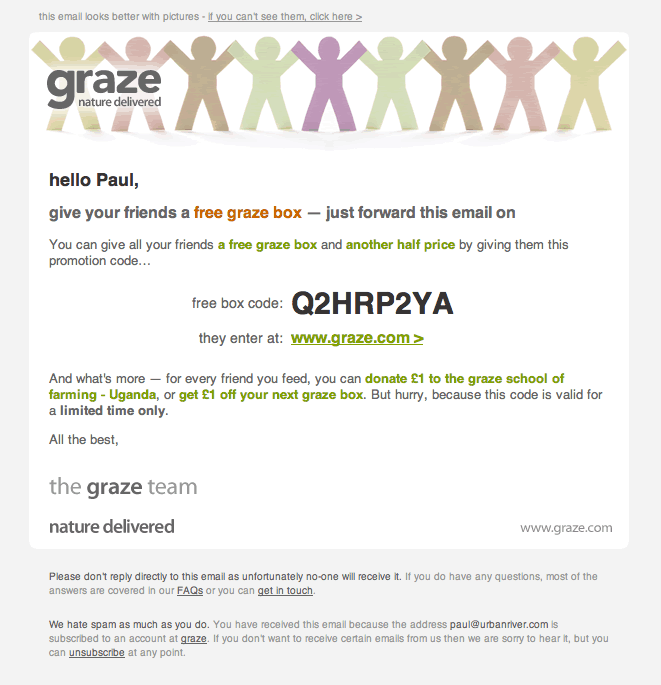 graze referral email