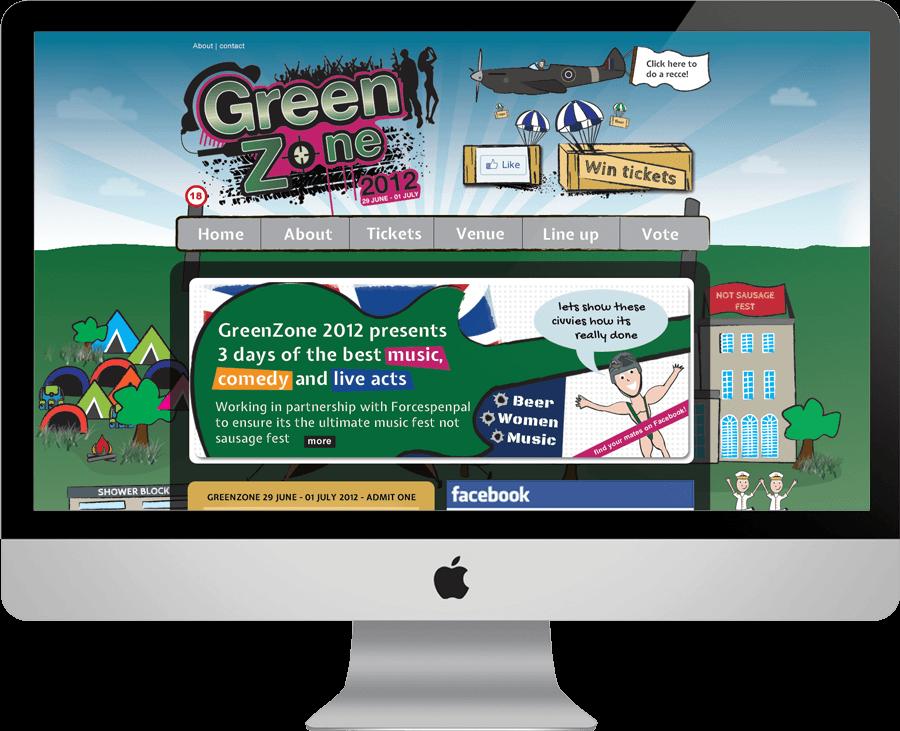 GreenZone on desktop