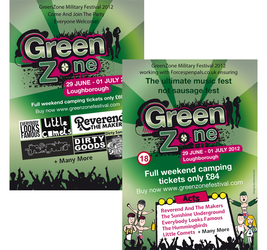 GreenZone flyer and poster