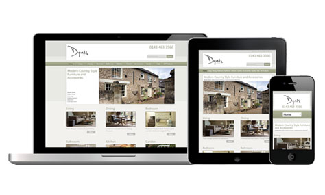 Dyvels responsive website