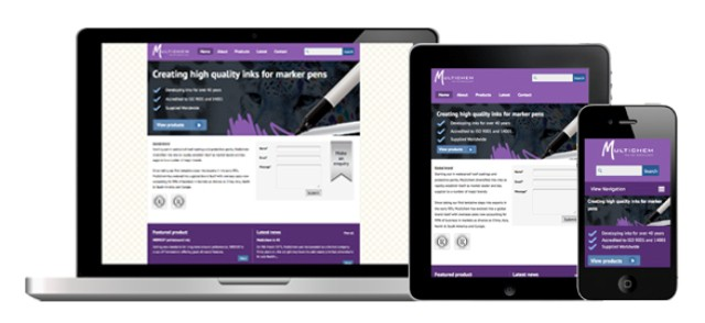A responsively designed website