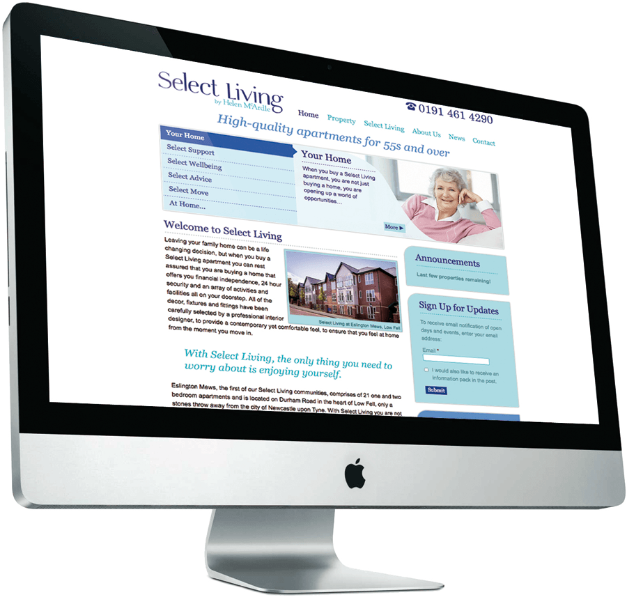 Select Living on iMac