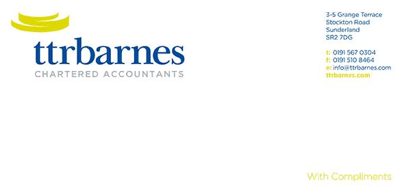 TTR Barnes compliment slip