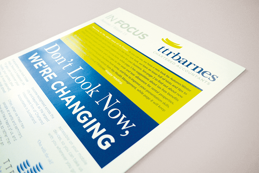 TTR Barnes printed newsletter