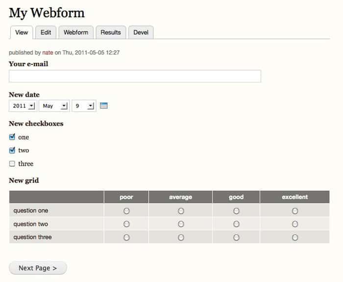 Drupal Webform