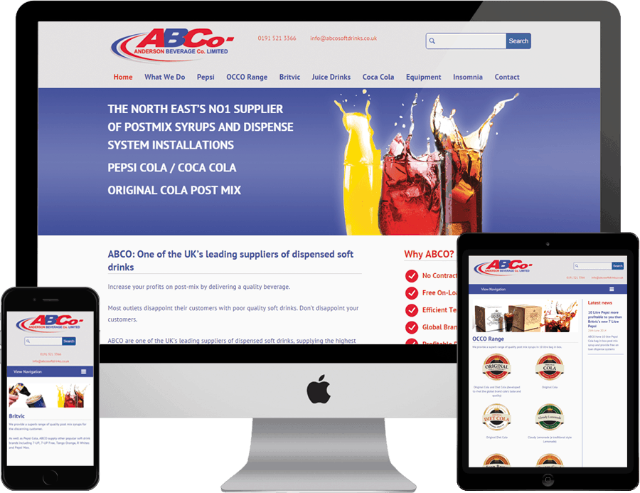 ABCO on desktop, tablet and mobile
