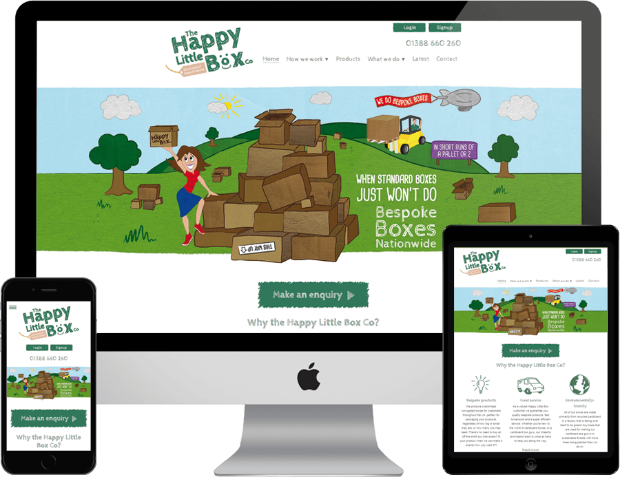 The Happy Little Box Co on desktop, tablet and mobile