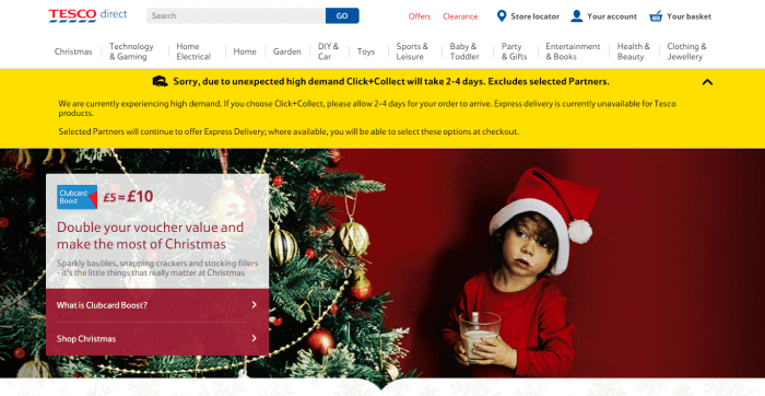 Christmas website caption