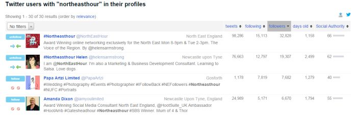 NorthEastHour Twitter