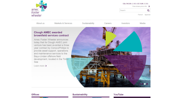 Amec Foster Wheeler Website