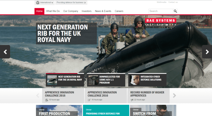 BAE Systems Engineering Website