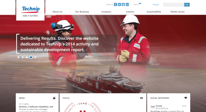 Technip Engineering Website