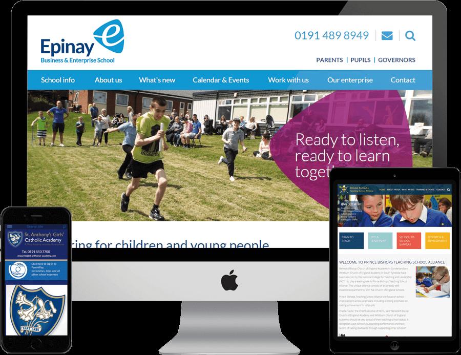 School Web Design Examples