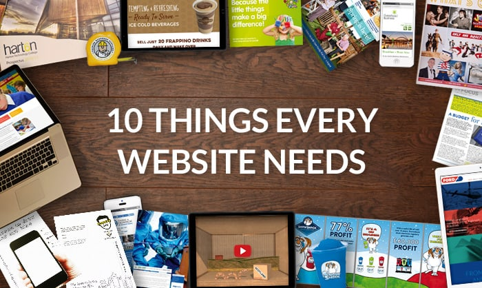 Read about 10 Essential Things Every Website Needs