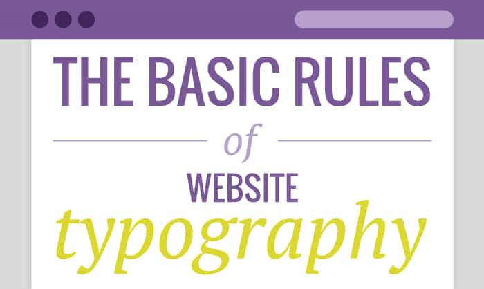 Read about Basic rules of website typography