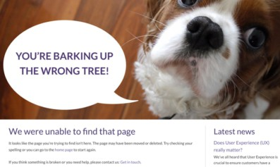 Read about How to improve that dreaded 404 page