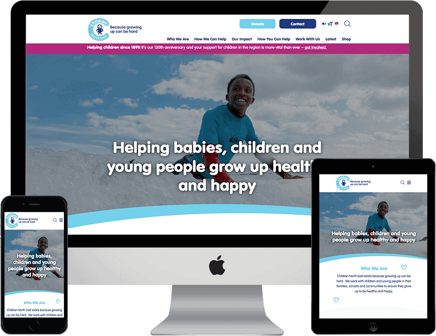 Children North East responsive website design